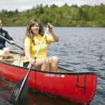 Canoeing on Lily Lake