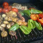 fresh grilled veg on wood BBQ