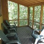 Screened-in deck of River Village, Unit R-87