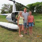Our family getting ready to go up in the helicopter 6/4/2012
