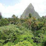 View of Petit Piton from Boucan Restaurant