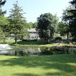 Rosemary Inn - pond, terrace & house