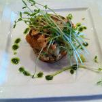 Crabcake with sweet potato. Too pretty to eat. But I did anyway:-)