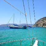 out at sea on the Mavi Deniz from Bozburun