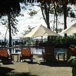 piscine principale vue du bar
