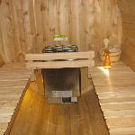 Inside of the sauna!