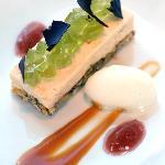 Cloudberry dessert