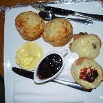 welcoming delicious scones