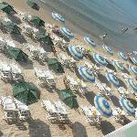 Miles of Unoccupied, Unpadded and Unlikely to be used Sun Loungers and Parasols.