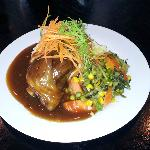 lamb shanks, mash and veges > $15