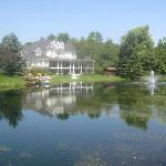 Picture of the back of the Inn from across the pond.