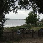 Picnic table near the intercoastal waterway (ICW)