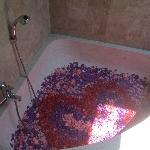 BATH TUB - ROMANTIC ROSE PETAL WELCOMING
