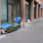 Obdachlose in der Straße
