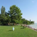 Nice well kept beach with big trees to give shade