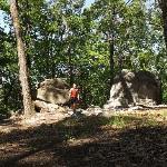 Big rocks along Manitoga hiking trail