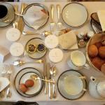 Premier plateau de petit déjeuner