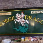 The pub sign in the dining room