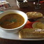 Lunch, pumpkin soup, yum