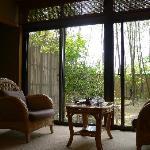 お部屋からの景色!竹がキレイ。