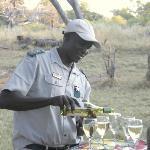 Ngundi, Game Ranger, serving afternoon beverages!