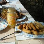 Jamaican home-made pick-a-pepper sauce,