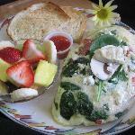 Artichoke & Mushroom Egg White Omelette