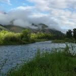 Early morning clouds over the Salmon River