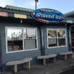 The cute little shave ice shack