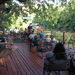 Back deck over the Colorado River@County Line BBQ
