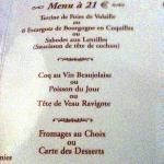 menu Bourgogne