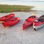 The Nest's kayaks can be used at anytime without added charge