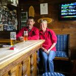 Couple enjoying themselves at Zugspitze Hotel bar