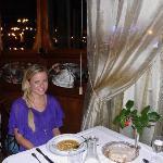 In the beautiful restaurant