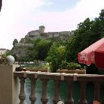 the castle overlooks Lourdes