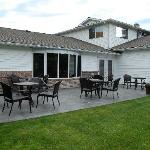 Back patio and garden area.