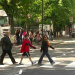 Zebra crossing at Abbey Road, made famous by the Beatles!