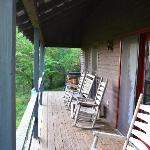 Our porch where we had morning coffee.