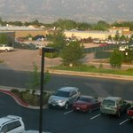 View of the mountains, smoky from western fires, taken from my room