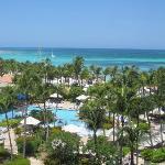 Kelly Habbas view from room at Hyatt Aruba