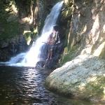 Water falls and swimming 1/2-mile from Cardigan Lodge.