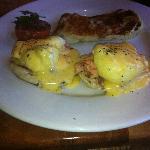 Salmon Benedict with Potato Pancake