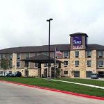 The hotel is just off of I-35