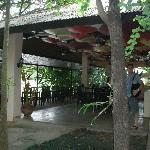 Baannamping Riverside Village dining area