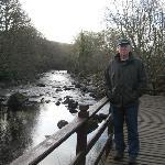 My dad overlooking the creek