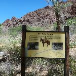 Sign at bottom of canyon