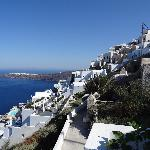 view to Imerovigli and Oia
