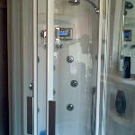 Hi-tech shower - very efficient!