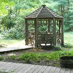 Gazebo on the property