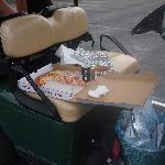 Pizza on Golf Cart
